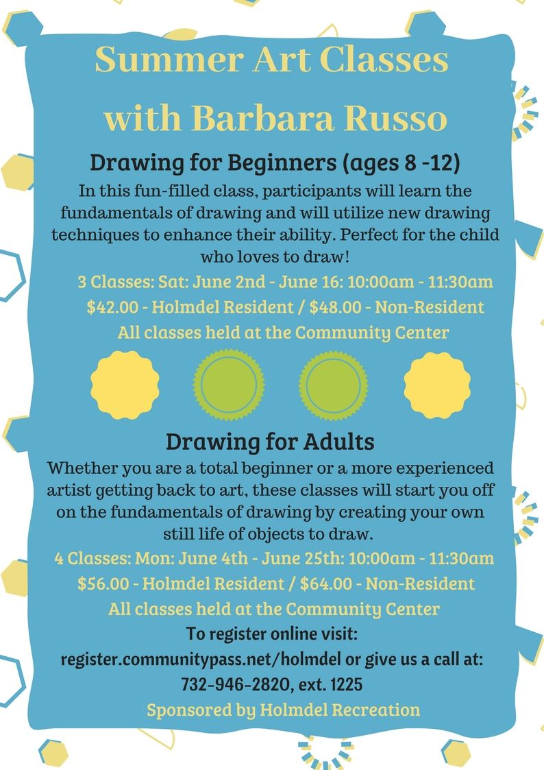 Summer 2018 Art Classes