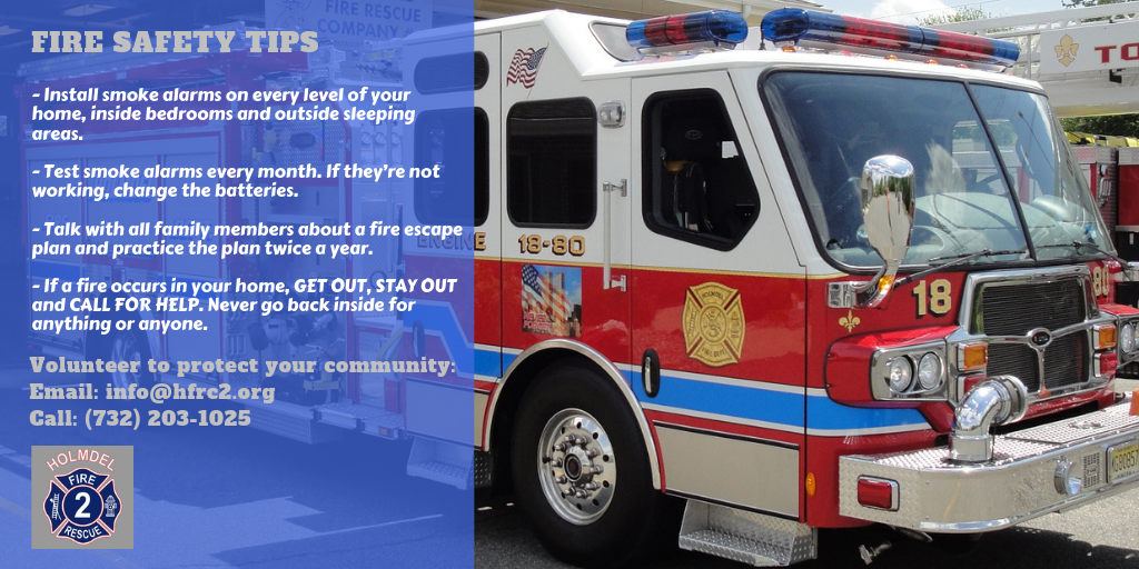 Holmdel Fire Department Fire Safety Tips