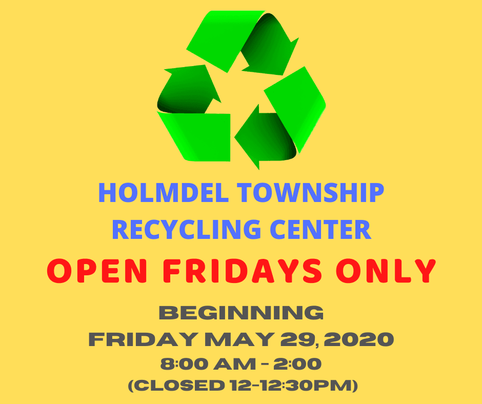 Recycling Center Open Fridays