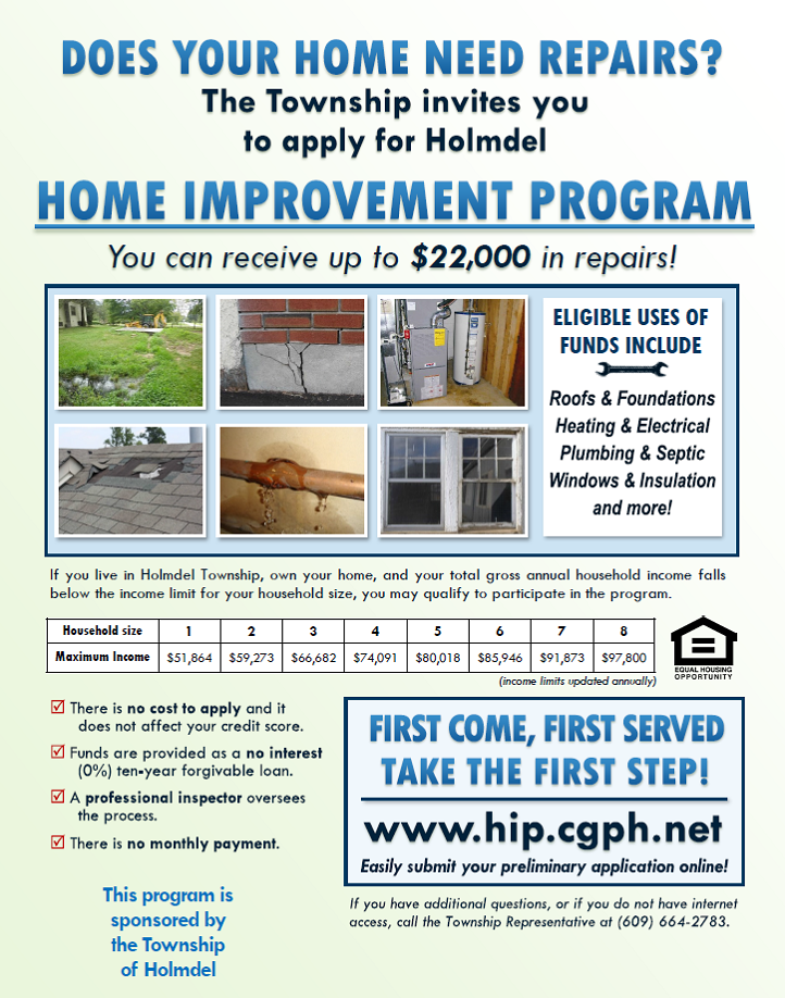 Affordable Home Improvement Program - Holmdel Township, NJ ...