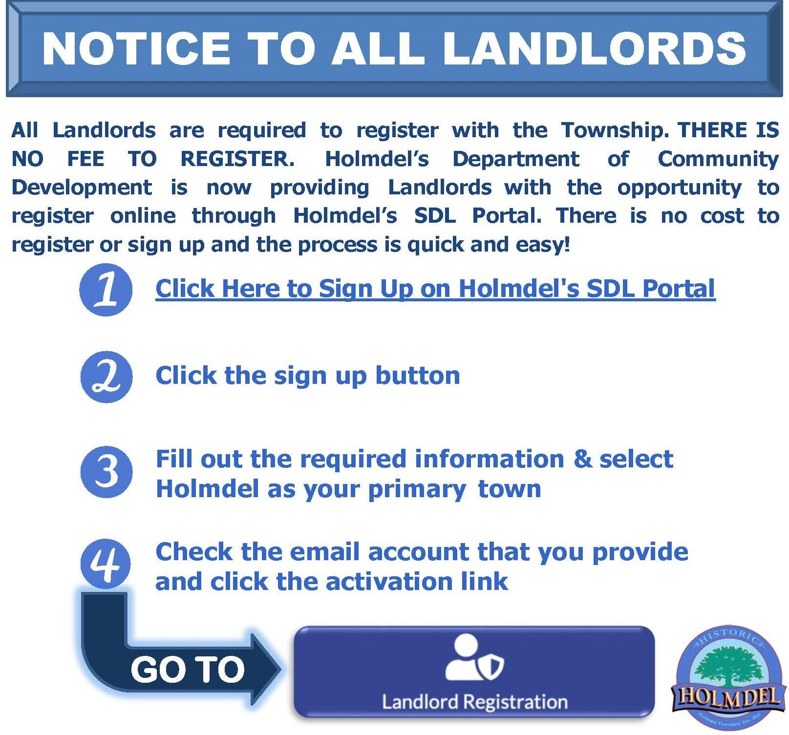Landlord Online  Signup Opens in new window