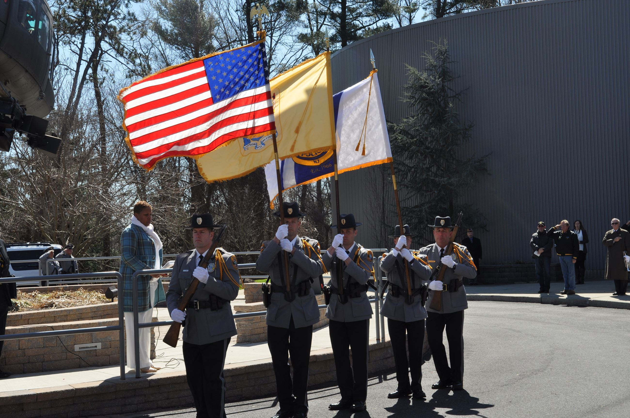 Honor Guard Displaying Flags